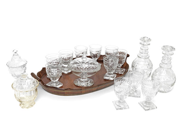 A collection of 19th century and later cut glassware