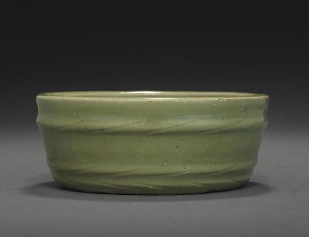 A Longquan celadon shallow bowl