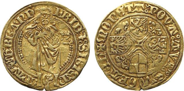 Germany, Brandenburg - Franconia, Friedrich and Sigismund, 1 Goldgulden, Undated (1486-1495)