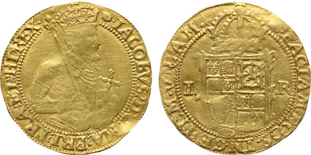 Great Britain, James I (1603-1625), Gold Unite, Undated (1613-1619), Extremely Fine NGC