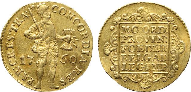 Netherlands, Gold Trade Ducat, 1760