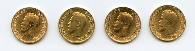 Russia, Nicholas II, Gold 10 Roubles, 1899 (4)