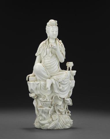 A Dehua figure of Guanyin