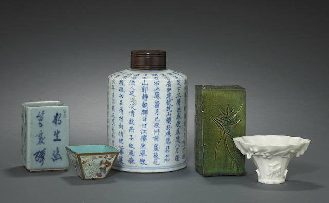 A group of ceramic containers