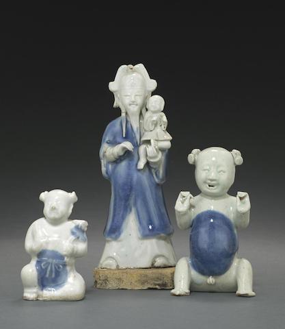 A group of three Dehua figures
