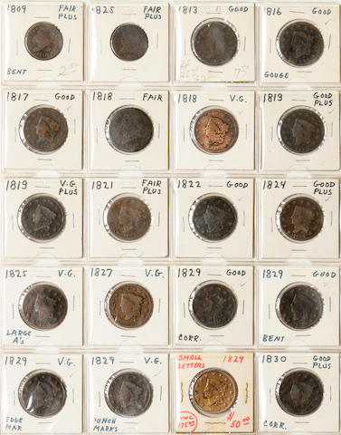 Large Cent Collection in Folder