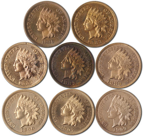 Proof Indian Cents (8)
