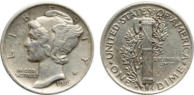 1916-D 10C