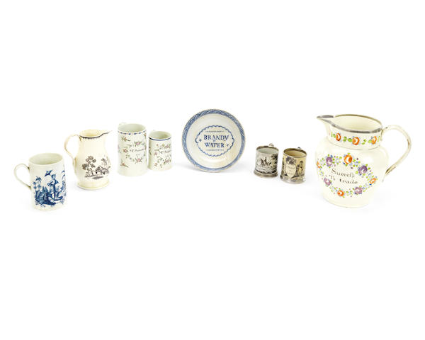 A collection of creamware and pearlware