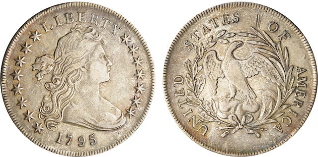 1795 Flowing Hair $1 Centered Bust