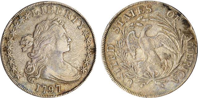 1797 $1 Stars 10 x 6, Large Letters