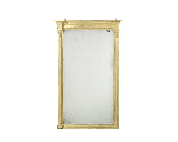 A small Regency giltwood pier mirror
