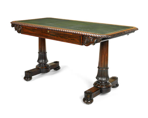 A George IV rosewood library table