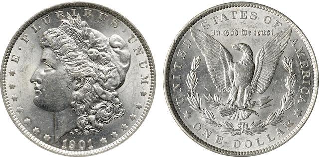 1901 $1 MS62 PCI