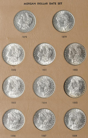 Dansco Silver Dollars Date Set 1878-1935