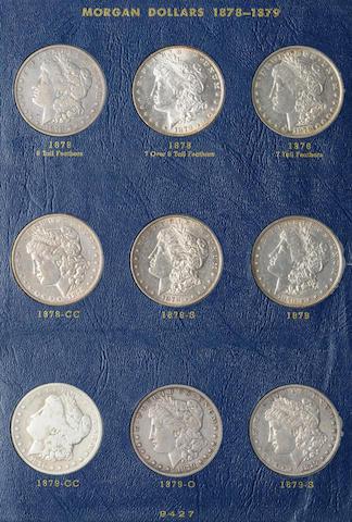 Whitman Morgan and Peace Dollars Sets, Partials