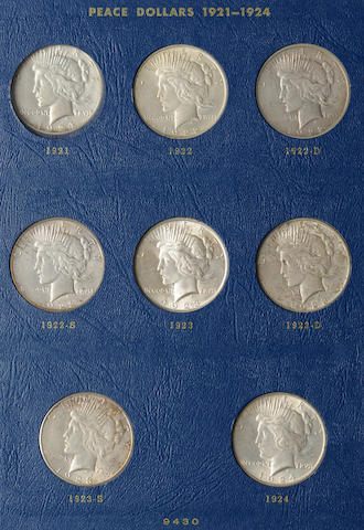 Whitman Peace Dollars 1921-1935 Partial Sets