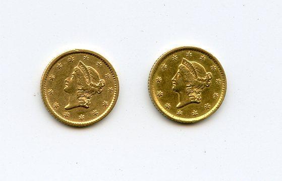 1849 & 1852 Gold Dollars