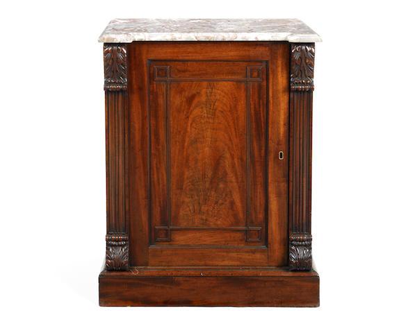 A Regency mahogany pedestal cabinet