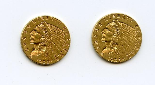 Each exhibits some light wear, but no distracting marks or abrasions. A desirable pair. (PCGS 7940)