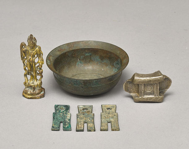 A group of early style metalwork
