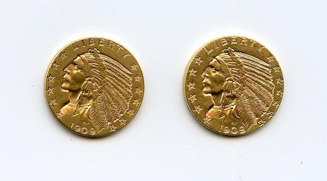 1909, 1909-D $5
