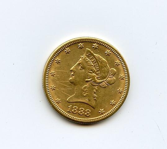 1888-S $10