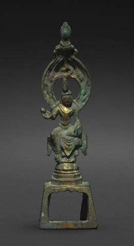A Tang style cast bronze figure of a Bodhisattva