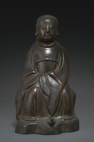 A bronze seated figure of Zhenwu