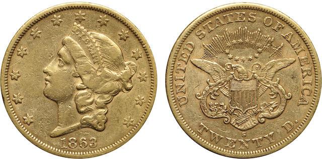 1863-S $20
