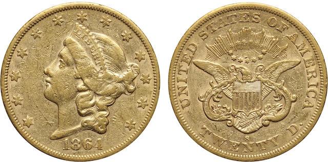 1864-S $20