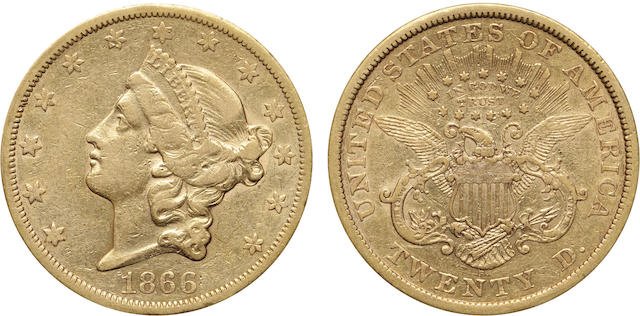 1866-S $20 With Motto