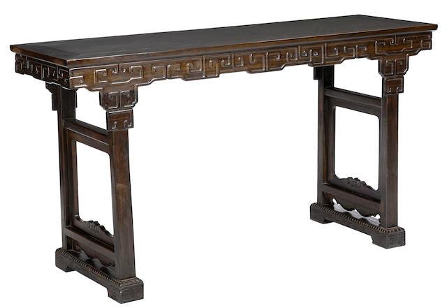 A hardwood altar table