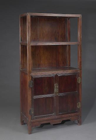 A hardwood display cabinet