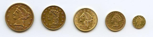 U.S. Gold Coin Lot (5)
