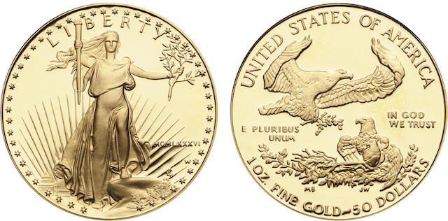 1986-W $50 One Ounce Gold Eagle