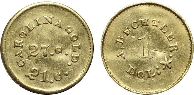 (1842-52) A. Bechtler G$1, 27G., 21C