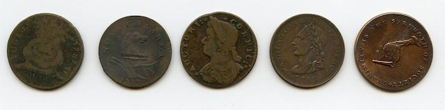 American Colonial Coin Lot (5)