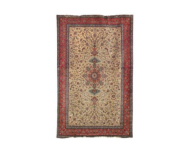 A large Tabriz carpet