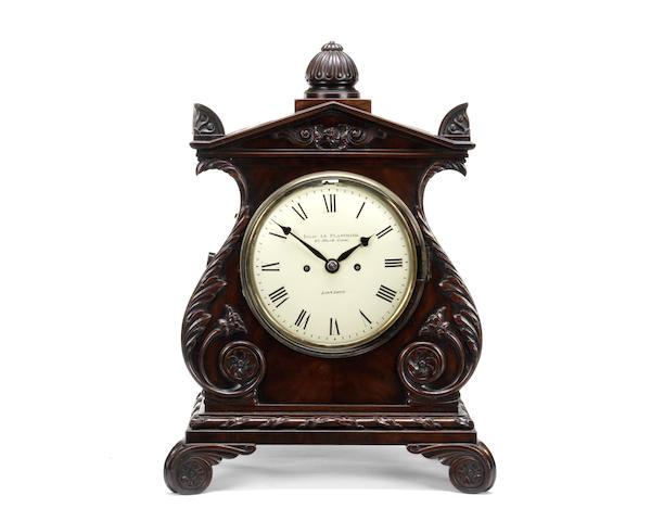 A William IV mahogany table / bracket clock
