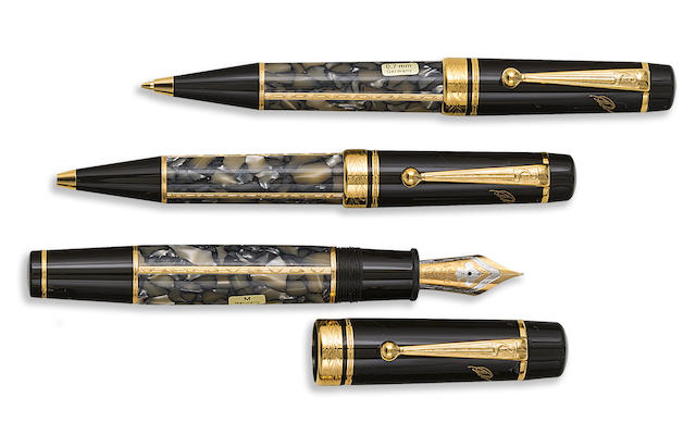 MONTBLANC: Alexandre Dumas [Pere] Writers Series Set of Three Limited Edition Instruments