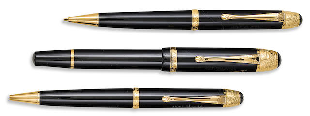 MONTBLANC: Voltaire Writers Series Set of Three Limited Edition Instruments