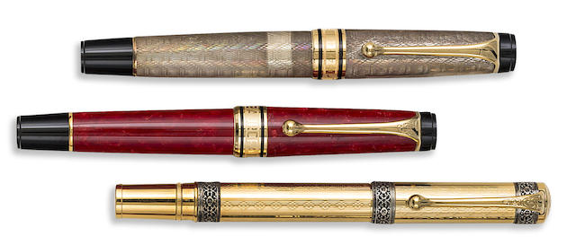 AURORA: Lot of Three Limited Edition Fountain Pens