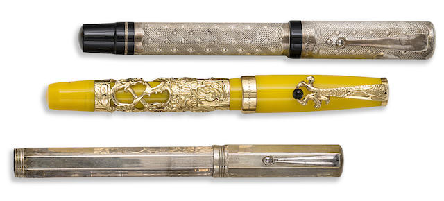 MONTEGRAPPA: Lot of Three Limited Edition Fountain Pens