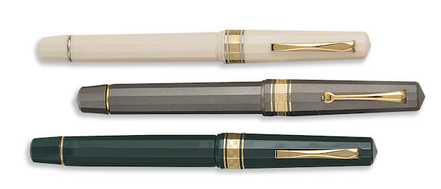 OMAS: Lot of Three Limited & Unlimited Fountain Pens