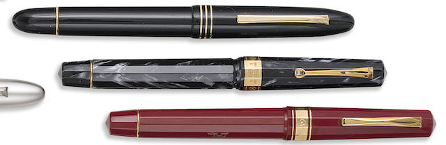 OMAS: Lot of Three Arts-Themed Limited & Unlimited Fountain Pens