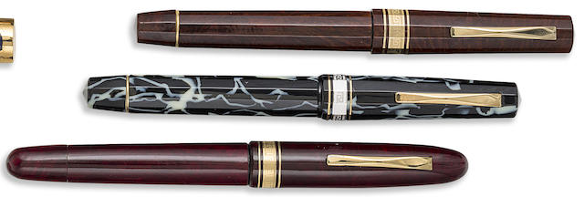 OMAS: Lot of Three European-Themed Limited & Unlimited Fountain Pens