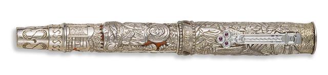 OMAS: Triratna Sterling Silver Limited Edition 2541 Fountain Pen