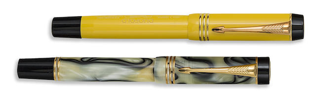 PARKER: Pair of Limited Edition Duofold Fountain Pens