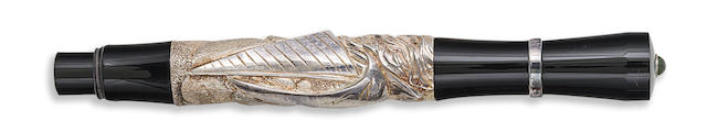 STIPULA: Vela Silver-Plated Limited Edition 398 Fountain Pen